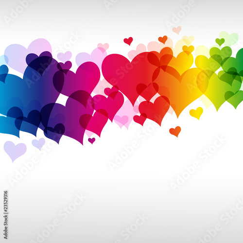 eps colorful heart background