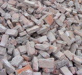 factory demolition stone stack of rubble poster