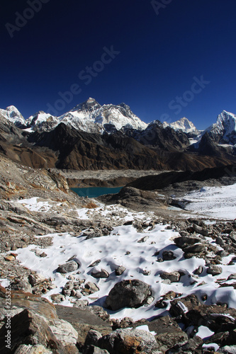 View of Everest from Renjo Pass.