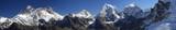 Fototapety Panorama of Everest from Renjo Pass