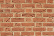New red brick wall from background