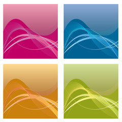 A set of abstract backgrounds. Vector illustration