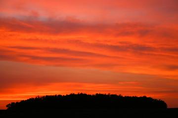 Firey Red Skies