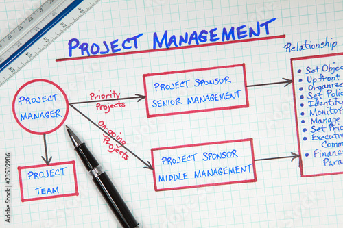 Business Project Management Planning Diagram