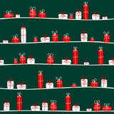 Seamless Pattern Christmas Gifts