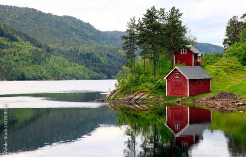 Staande foto Scandinavië haus am see