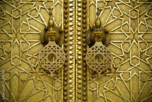 Leinwanddruck Bild Марокко,Золотые ворота дворца