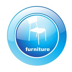 Button furniture blau