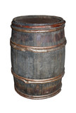 A Traditional Old Wooden Beer Barrel Container. poster
