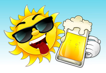 sun and beer