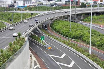 Auckland - flyover freeway bridge