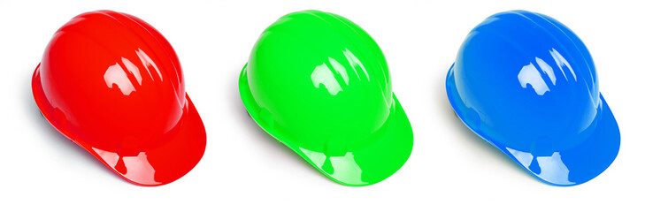 Red Green and Blue Hardhat