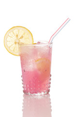 Pink Lemonade In Old Style Glass
