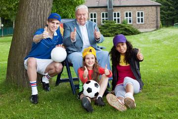 Familien Fussball