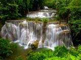 Huay Mae Khamin Waterfall, Waterfall in deep jungle of Thailand