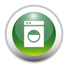 Glossy Washing Machine Sign Button