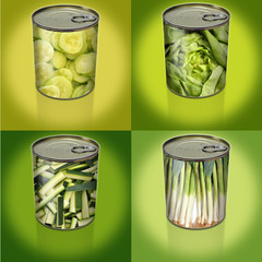 conserves légumes verts