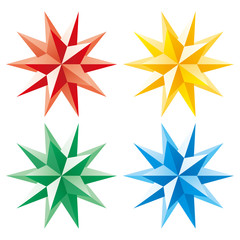 3d vector shining star