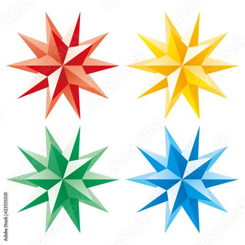 3d vector shining star