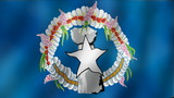 Northern Mariana Islands - waving flag detail