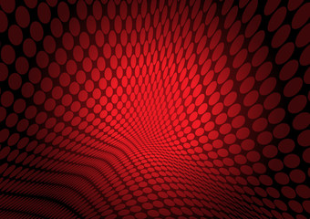 Red vector doted background illustration