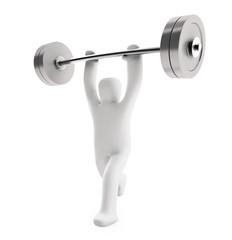 Figur Gewichtheber (mit Freistellungspfad