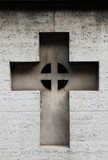 Carved cross gravestone poster