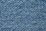 piece of denim fabric structure of blue and white threads