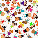 seamless vector background with kids