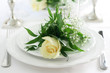 Place Setting with a Rose