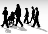 Disabled walk poster