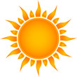 Sun symbol. Vector illustration.