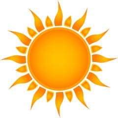 Sun symbol. Vector illustration.