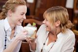 Fototapety freundinnen reden im café