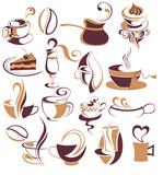 Fototapety Big SET of Vector coffee,tea elements 3