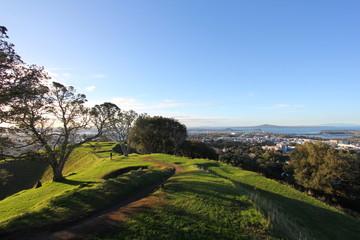 Trekking path on a hill