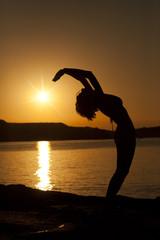 yoga silhouete