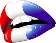Labbra Sensuali Bandiera Francia-Lèvres Drapeau France