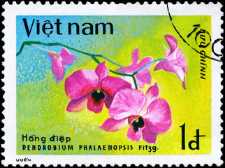 VIETNAM - CIRCA 1979 Dendrobium Bloom