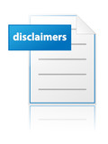 DISCLAIMERS icon (legal privacy policy button website) poster