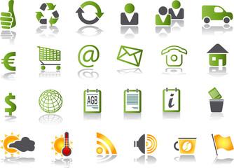 büro icons grün