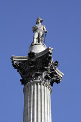 Close-up of Nelson's column