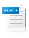 WEBZINE Icon (Online Magazine Web Internet Read Information News poster