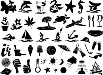 urlaub icons silouette