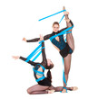 flexible gymnasts dancing