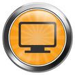 button monitor orange