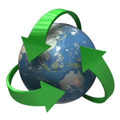 Global Recycling 3D symbol