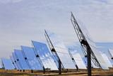 Field of Renewable Green Energy Solar Mirror Panels poster
