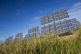 Field of Renewable Green Energy Photovoltaic Solar Panels poster