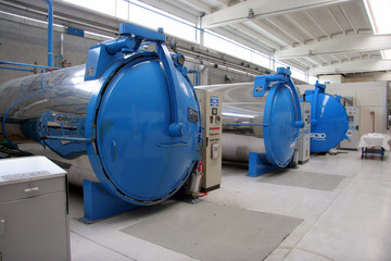 autoclaves in a factory